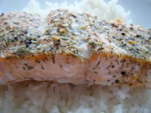 Sea Salt Honey Salmon | bsinthekitchen.com