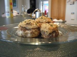 Stuffed Mushroom Caps | bsinthekitchen.com