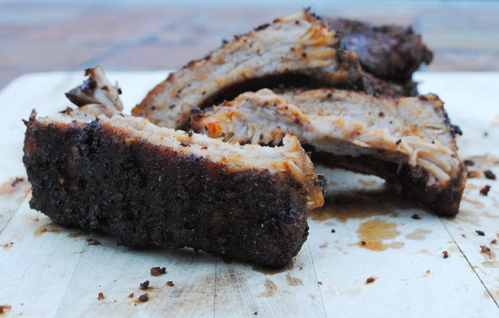 Coffee Rubbed Pork Ribs | bsinthekitchen.com