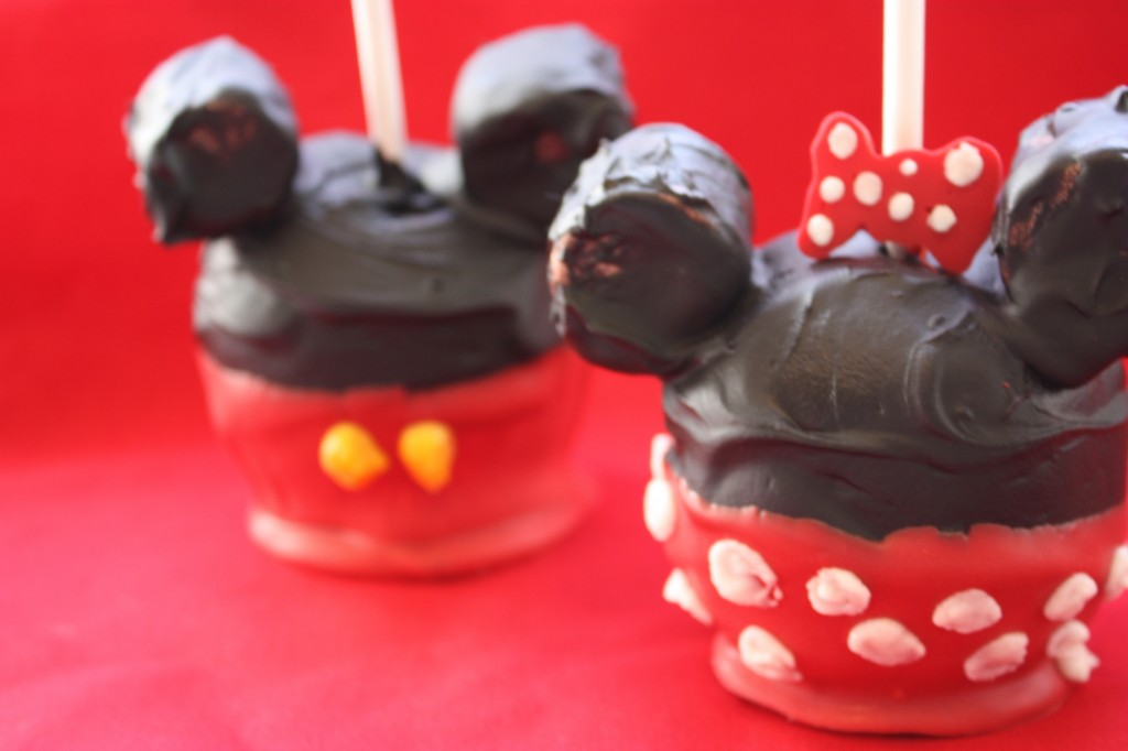 Mickey Minnie Mouse Chocolate Covered Apples