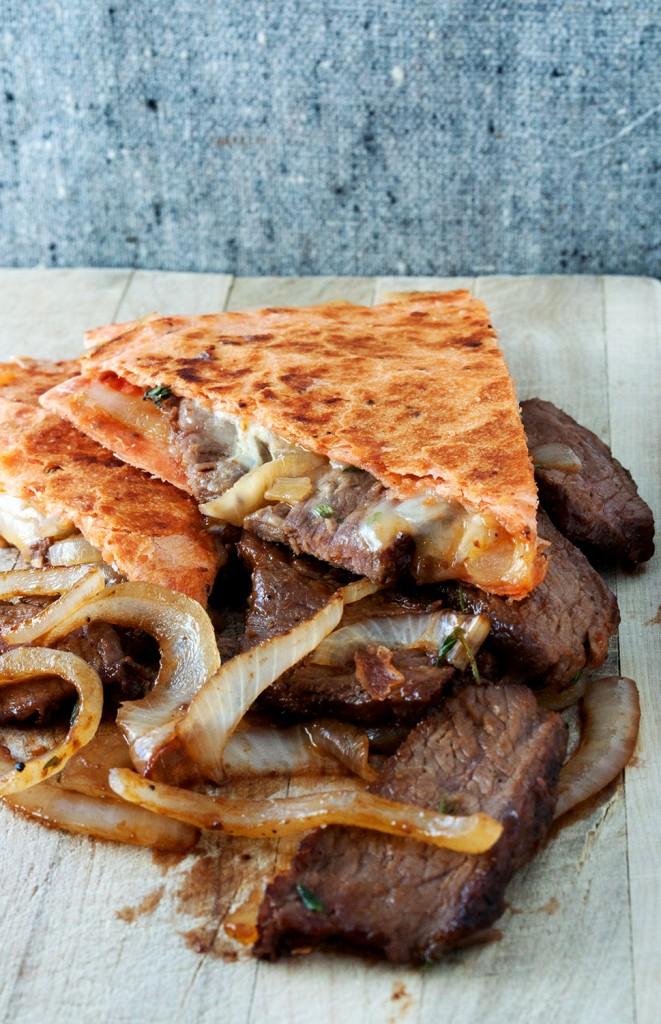 Bs Recipes Candy Corn M M Blondies: Caramelized Onion & Steak Quesadilla