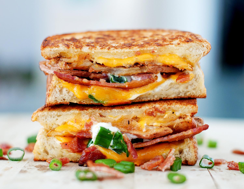Potato Grilled Cheese | bsinthekitchen.com #grilledcheese #sandwich ...