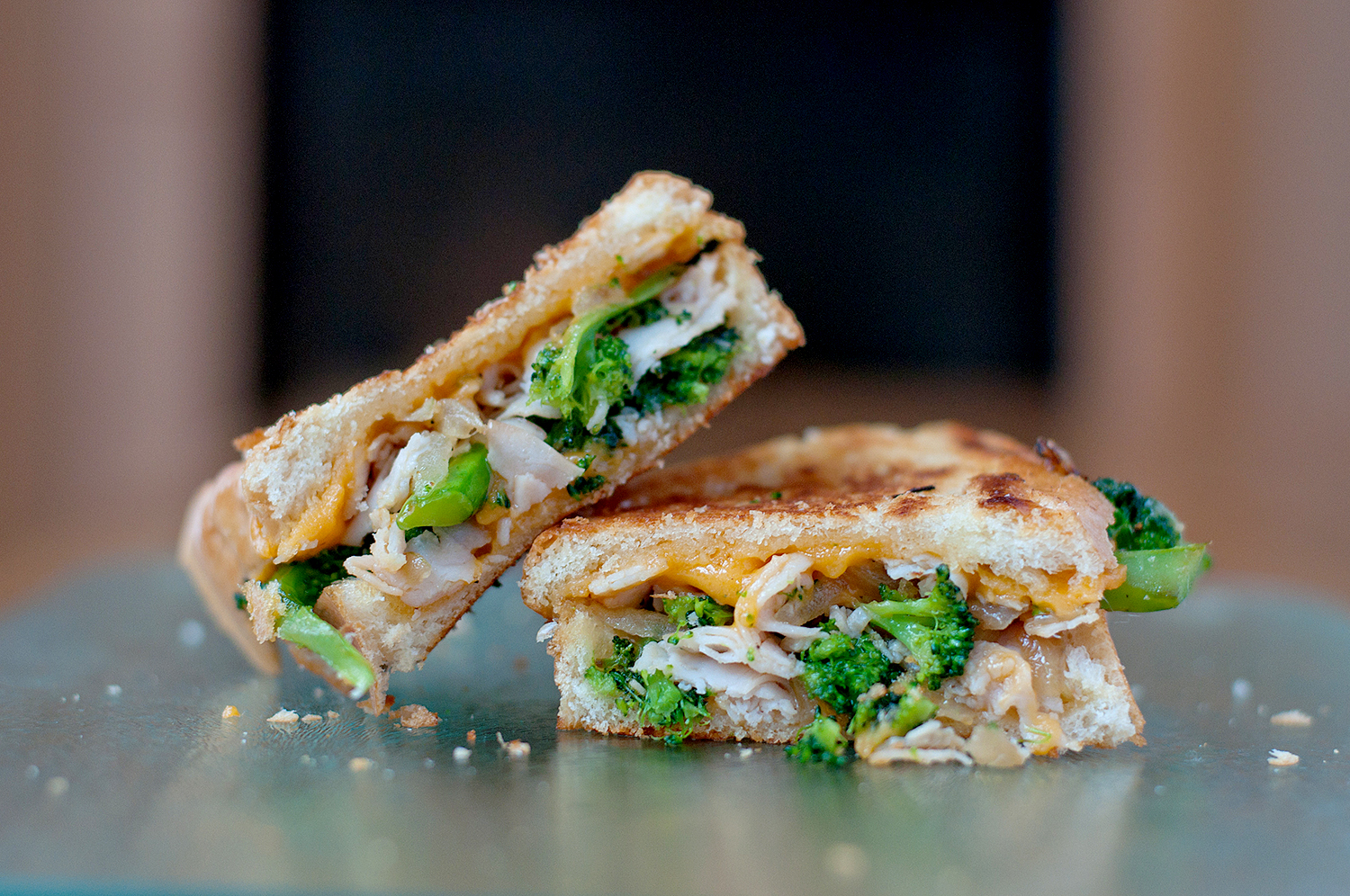 Broccoli & Cheddar Soup Grilled Cheese | BS' in the Kitchen