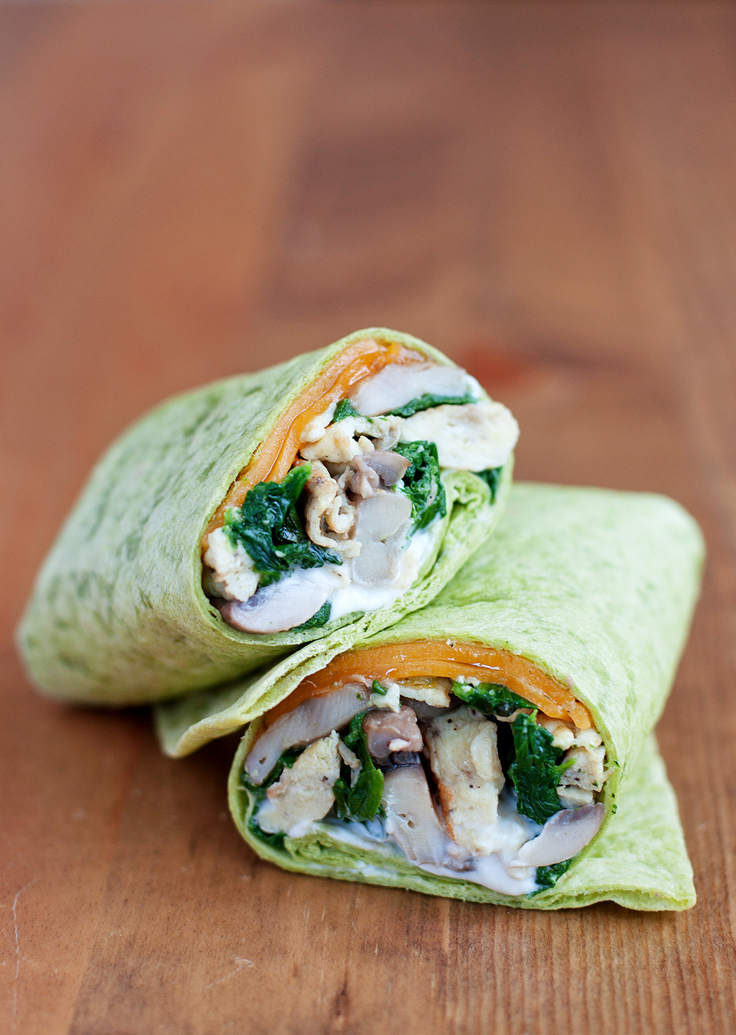 Spinach & Mushroom Scrambled Egg Wrap | BS' in the Kitchen