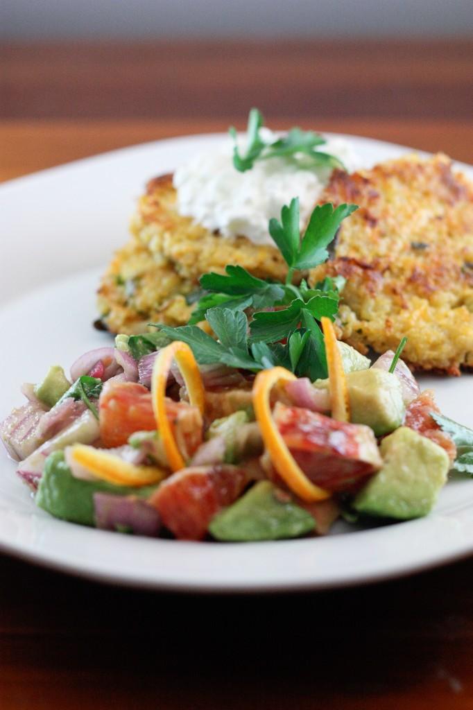 Bs Recipes Candy Corn M M Blondies: Quinoa Burgers & Fresh Avocado Blood Orange Salad