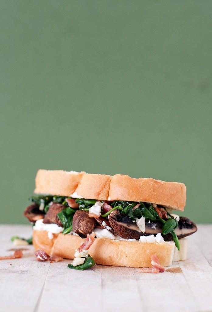 Spinach, Bacon & Goat Cheese Portobello Mushroom Sandwich | BS' in th...