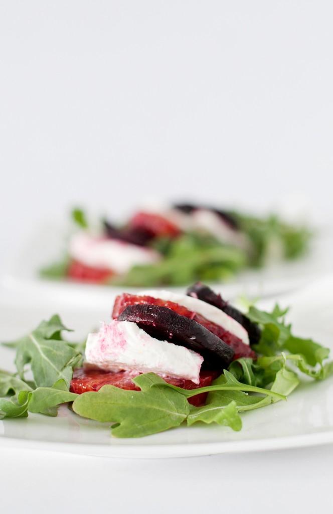 Beet And Goat Cheese Arugula Salad Recipe — Dishmaps