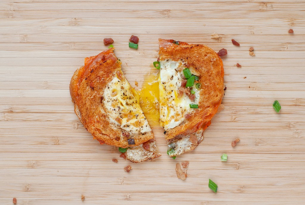Egg in a Hole Breakfast Grilled Cheese | BS' in the Kitchen
