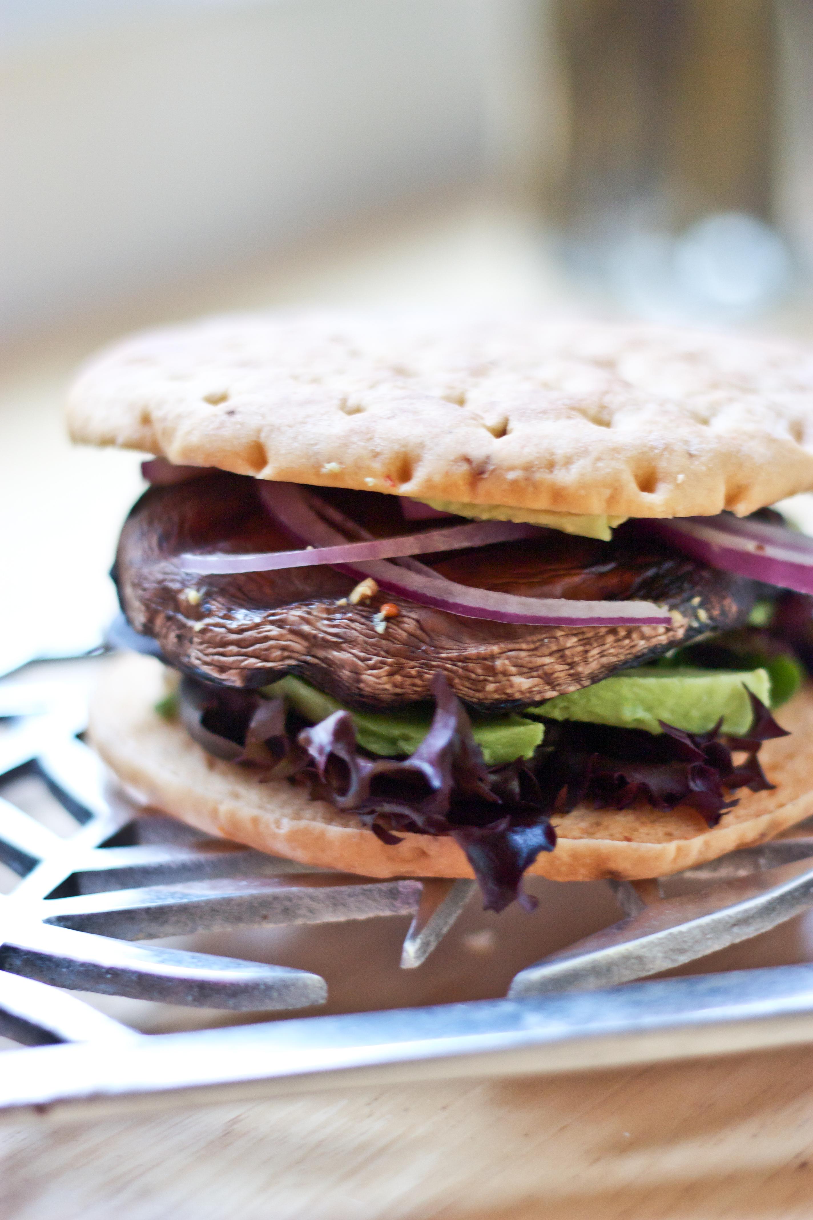 Portobello Mushroom & Avocado Burger | BS' in the Kitchen