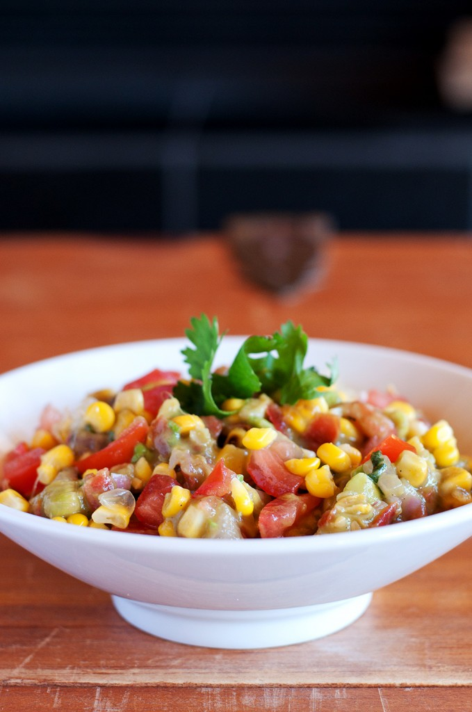 Roasted Corn Guacamole | BS' in the Kitchen