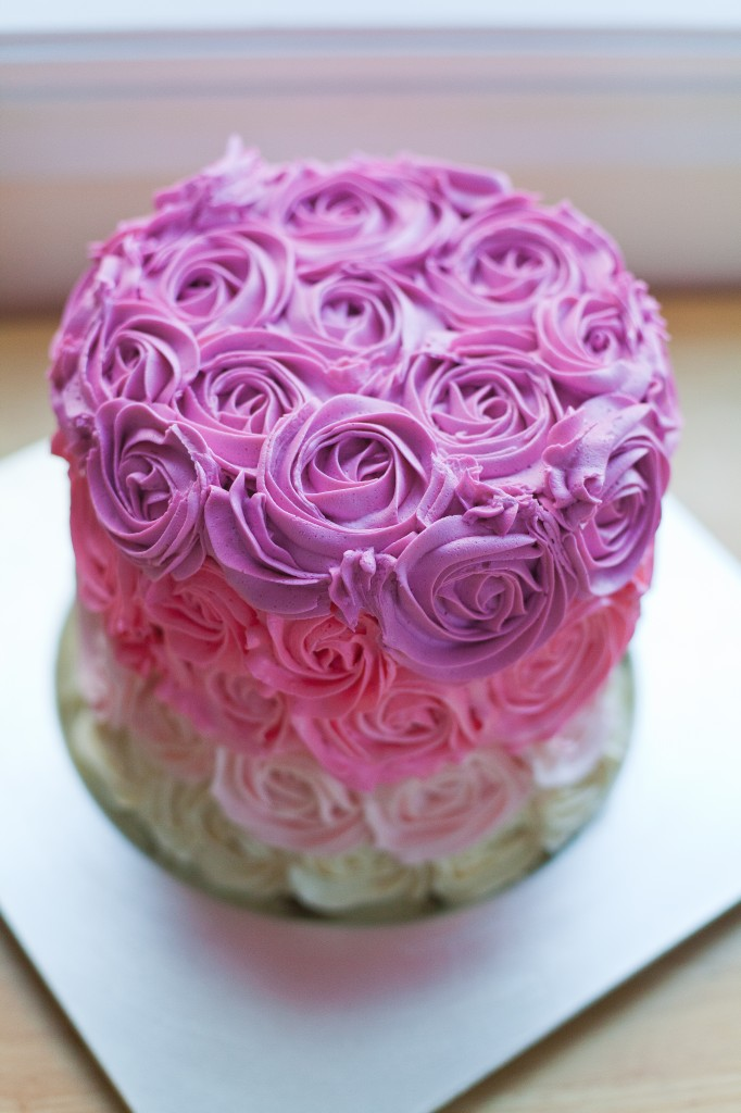 Pink Ombre Rose Cake December 24th 2017 28 Comments Dessert Easy How To