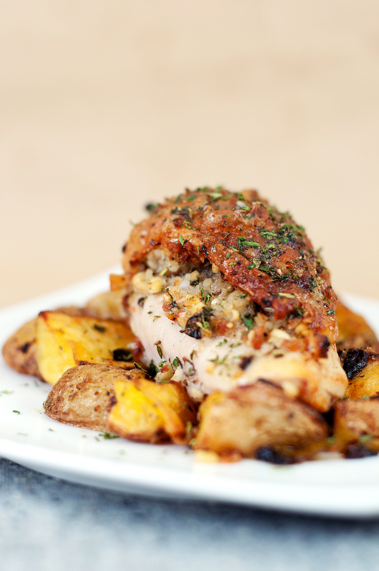 Stuffed boneless chicken breast with skin recipes