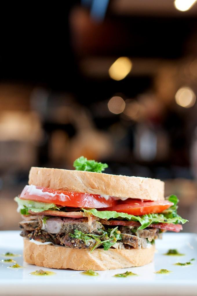 Pork & Salsa Verde Sandwich | bsinthekitchen.com #sandwich #leftovers ...
