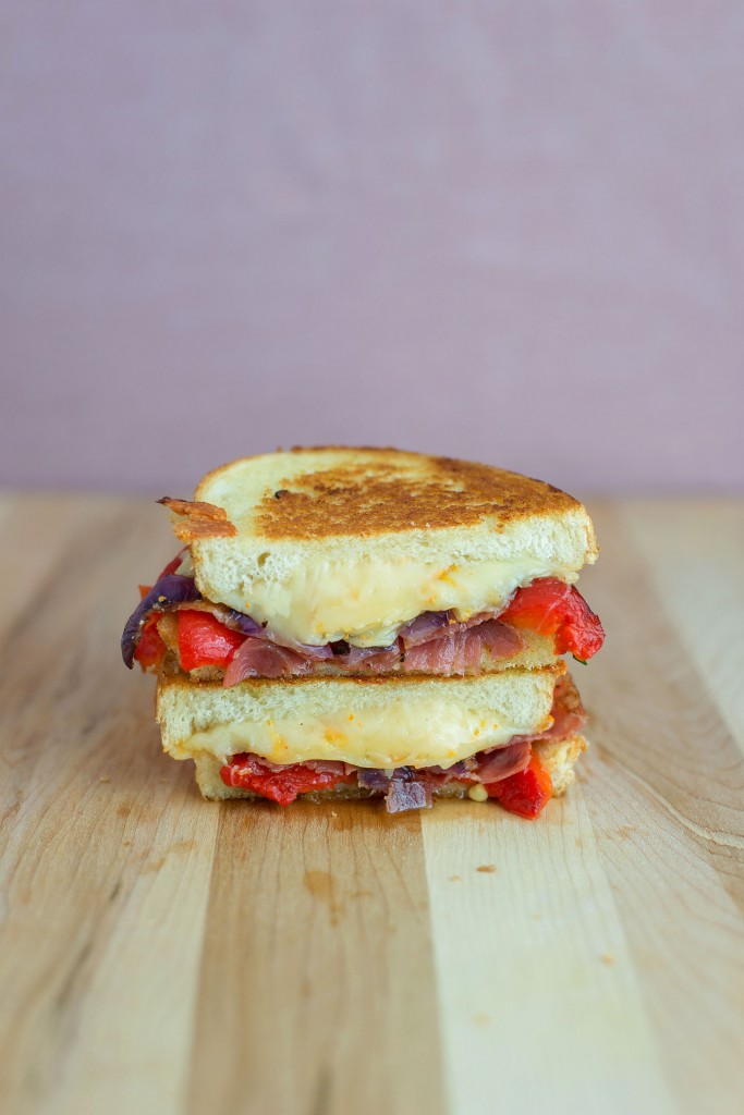 Roasted Red Pepper, Capocollo & Gouda Grilled Cheese | BS ...