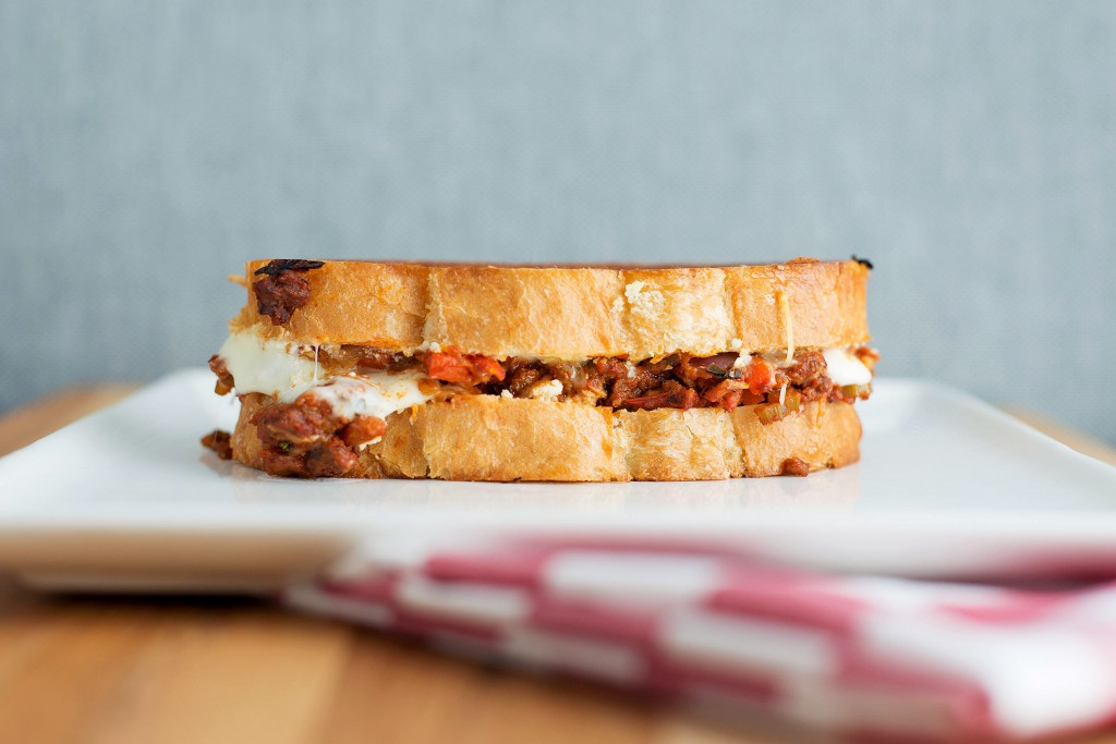 The Lasagna Grilled Cheese | bsinthekitchen.com #grilledcheese #lasagna #bsinthekitchen
