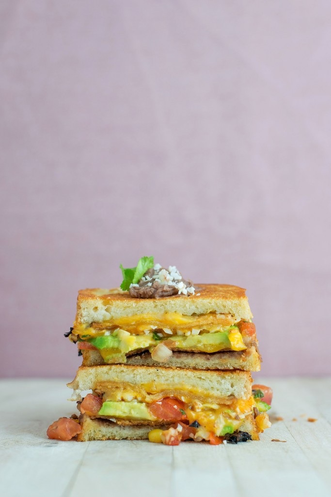 Mexican Grilled Cheese | bsinthekitchen.com #grilledcheese #sandwich ...