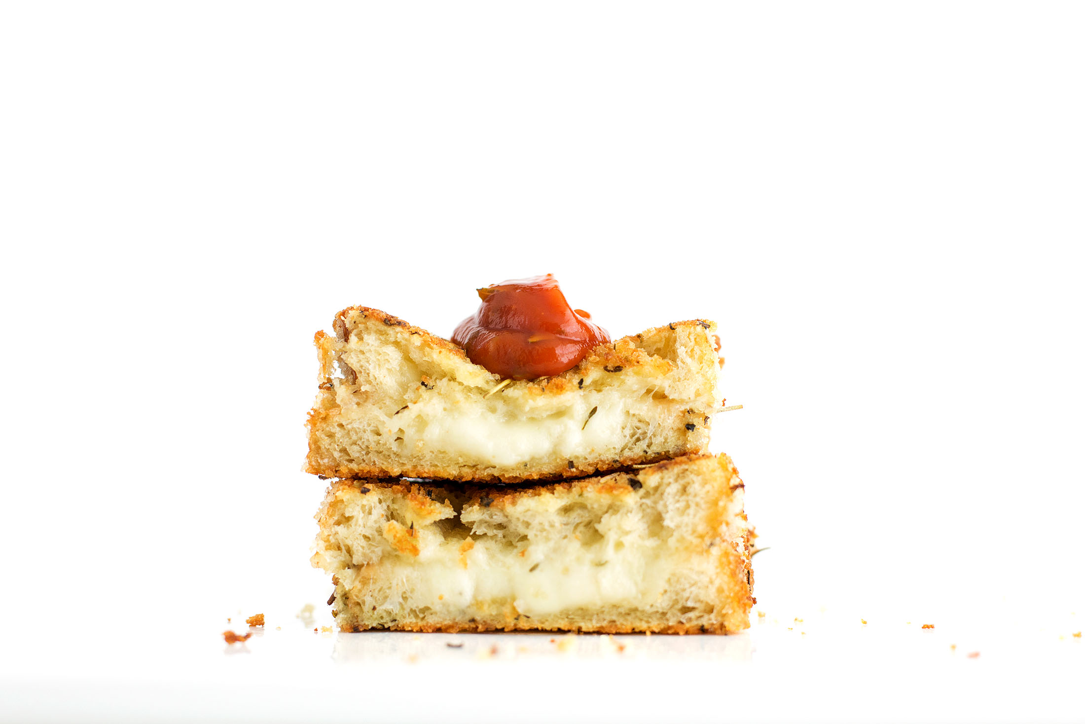 Grilled Cheese Sticks - Three Cheeses with Tomato Jam |Grilled Cheese With Mozzarella Sticks