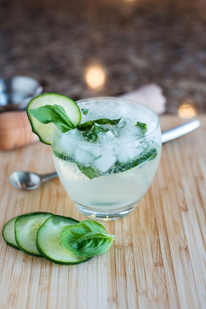 The GBC (Gin, Basil & Cucumber) | bsinthekitchen.com #cocktail #drink #bsinthekitchen