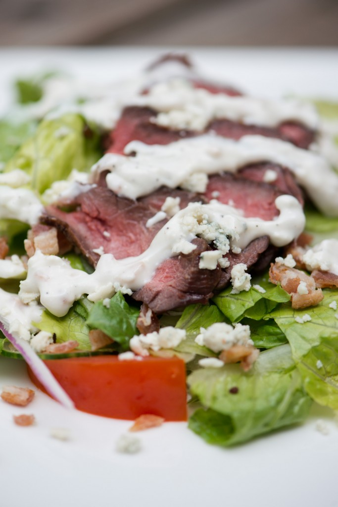 Steak Salad with Bacon Blue Cheese Dressing | bsinthekitchen.com # ...