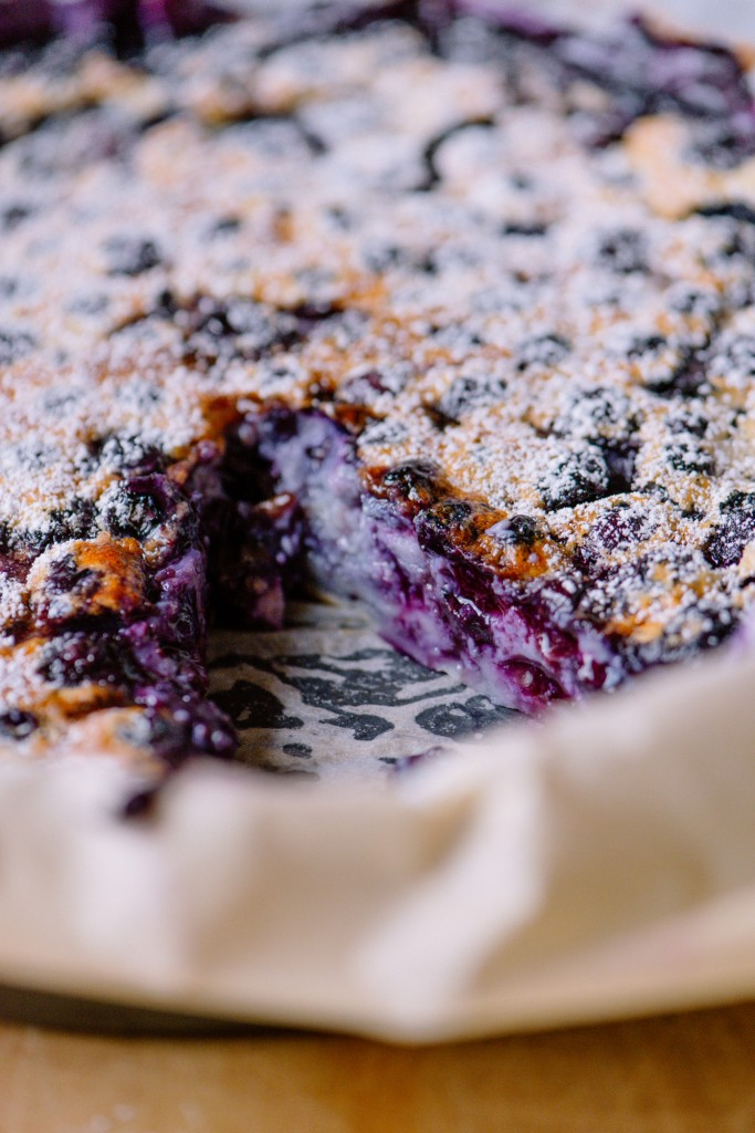 Blueberry Clafoutis | bsinthekitchen.com #dessert #blueberry #bsinthekitchen