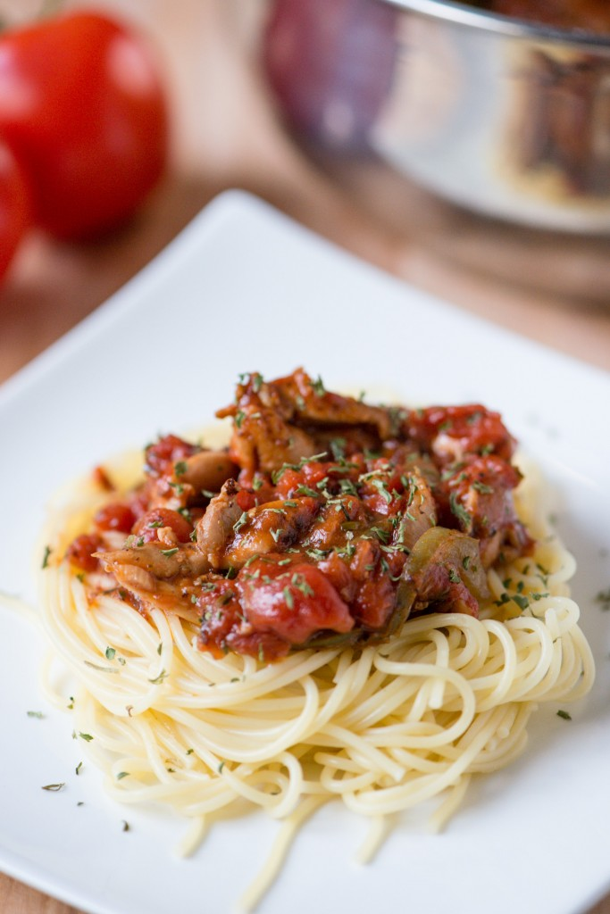 Chicken Cacciatore | bsinthekitchen.com #dinner #pasta #bsinthekitchen