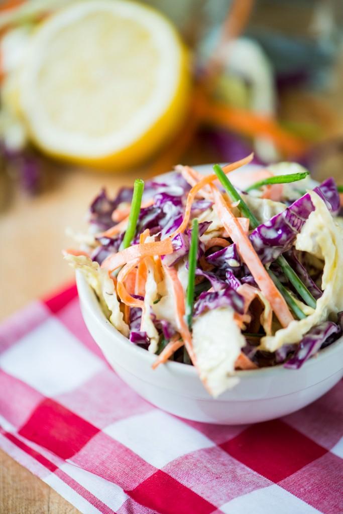Classic Coleslaw | bsinthekitchen.com #coleslaw #picnic #bsinthekitchen