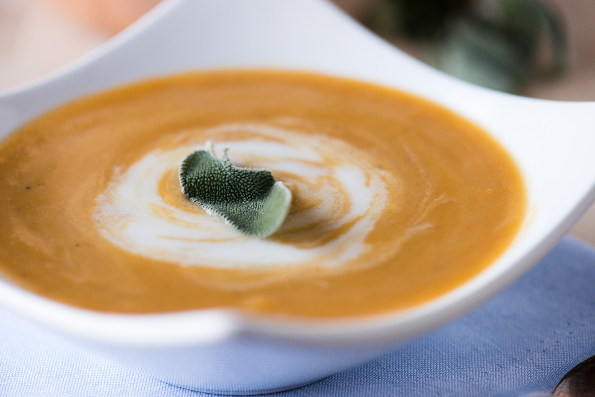 Butternut Squash Soup with Sage Cream | bsinthekitchen.com # ...